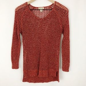 Lucky Brand Open Knit Chunky Sweater |D01